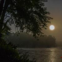 Туманное утро на слиянии двух рек Сакмары и Кураганки г.Кувандык, Кувандык