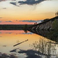 Новый пруд. Закат, Белинский
