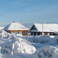 Дома зимой на Девятой Делянке, Кизел