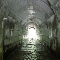 Речка Малый Полуденный Кизел, под ЖД мостом, в районе ст. Обогатитель. , Кизел