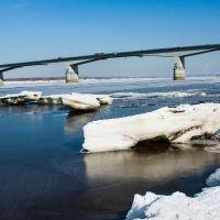 Автомобильный  мост  через  Каму., Пермь