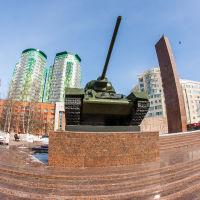 Памятник  Уральскому  добровольческому  танковому  корпусу., Пермь