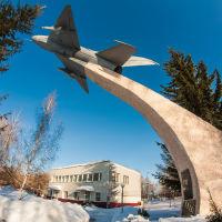 МиГ - 21  у  КПП  бывшего  авиационного  училища., Пермь