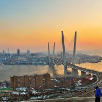 "Мост через бухту ""Золотой рог"", Владивосток"