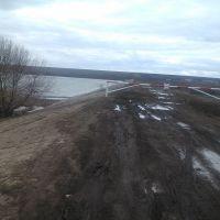 Большая Черниговка   плотина  Поляковского водохранилища 2016 год, Большая Черниговка