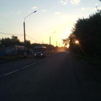 Кинель ул Советская, закат., Кинель
