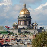 Вид с Московского просп.,12А на Исаакиевский собор, Санкт-Петербург