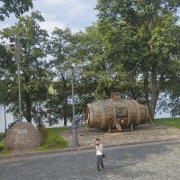 """Первая подводная лодка, """"потаённое судно"""", Сестрорецк"""