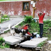 Дети у святого источника., Вольск