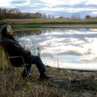 Мокроус. Осень. Река Филимошка. Отражение неба., Мокроус