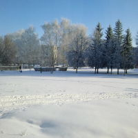 Центральная площадь 16дек2016г.  (-23°С), Ртищево