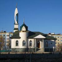 Надым, ЯНАО. Городская мечеть в солнечный день, Надым