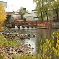 2016.10.05 завод-музей истории горгозаводской техники, плотина на реке Тагил, Нижний Тагил