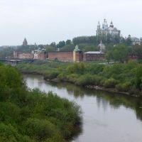Смоленск. Днепр и Успенский собор., Смоленск