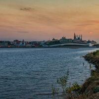 закат   над  казанкой,казань, Казань