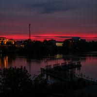 закат над  о.нижний  кабан,казань, Казань