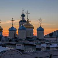 закат   над никольским   собором, Казань