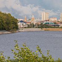 вид   с  кировской дамбы, Казань