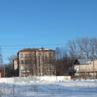 Улица Ленина в районе средней школы, Болохово