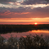 рассвет на реке Колосья, Урай