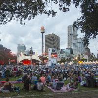 концерт артистов Опера хаус в Ботаник гаден, Сидней