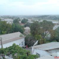 Вид с крыши дома по ул. Гулистан, 59. В сторону Кызылки - Старой крепости, Денау