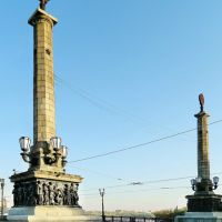 Пилоны моста через Кальмиус, проспект Ильича, Донецк