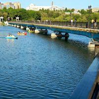 Вид на мост через пруд из парка им.Щербакова, Донецк