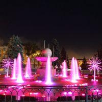 Фонтан ночью, Енакиево