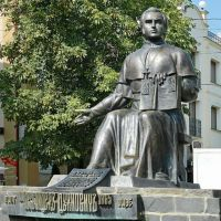 Памятник  А.В.Духновичу, священнику, поэту, писателю, Мукачево