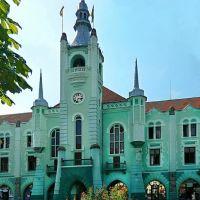 Городская ратуша с часами на пл. Кирилла и Мефодия, Мукачево