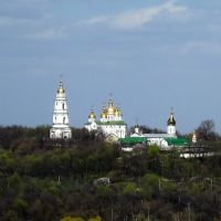 Вид на женский Крестовоздвиженский монастырь, Полтава