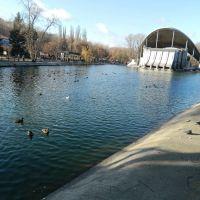 г.Днепр, летний театр на воде, пруд центрального парка, Днепропетровск