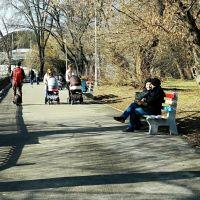 г.Днепр, весенний день у пруда центрального парка, Днепропетровск