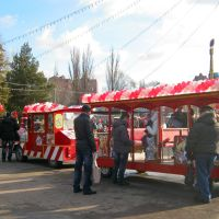 г.Днепр, детский поезд в центральном парке, Днепропетровск