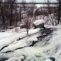 Кривой Рог. Зима. Водопад, Кривой Рог