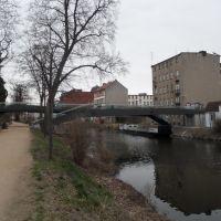Neue Brücke über den Stadtkanal - im April 2011 noch im Bau, Бранденбург