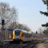 Bahnhof Brandenburg, Zug auf der Städtebahn, Бранденбург