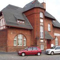 """Bahnhof Cottbus, Empfangsgebäude der ehemaligen """"Spreewaldbahn"""" (Rückseite), Котбус"""