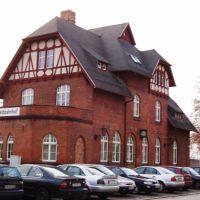 """Bahnhof Cottbus, Empfangsgebäude der ehemaligen """"Spreewaldbahn"""" (Vorderansicht), Котбус"""