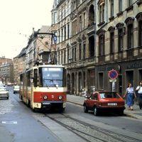 Tram + Trabant (juni 1991), Котбус