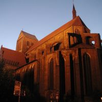 Church St. Nikolai Wismar at sunset, Висмар