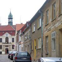 Blick von der Pferdemarktstrasse zum Rathaus, Грейфсвальд