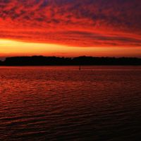 Sonnenuntergang in Rostock, Росток