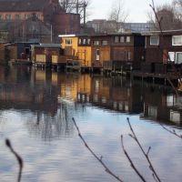 Bootshäuser am Mühlendamm in Rostock, Росток