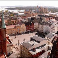 Blick vom Dom auf den Markt und das Schweriner Schloß, Шверин