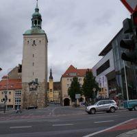 Bautzen - Lauenturm mit Sicht auf das Rathaus_090906, Баутцен
