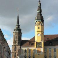 Rathaus und Domturm, Баутцен