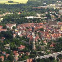 Bautzen Luftbild der Innenstadt, Баутцен