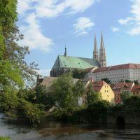 Blick über die Neisse zur Kirche St.Peter und Paul, Герлиц